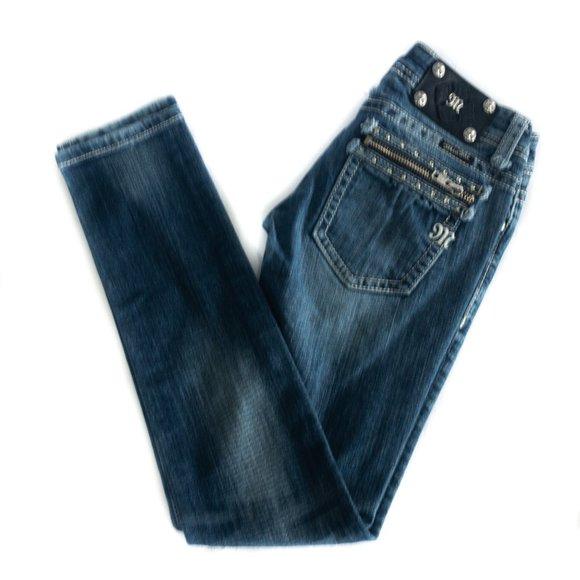 Miss Me Zipper Pocket Skinny Jean - Size: 25
